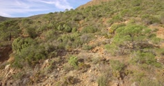 4K Aerial, Flight along hills and rocks, off the beaten track, Andalusia, Spa Stock Footage