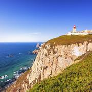Cabo de Roca landscape. Portugal. Stock Photos