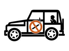 Ban Smoking in Cars with Minors Stock Illustration