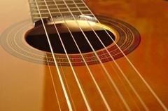 Spanish classical guitar Stock Photos
