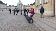 Stock Video Footage of Sightseeing while riding segways is very popular in Copenhagen