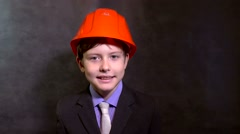 Boy builder Stock Footage