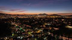 Thousand Oaks California Dusk to Night Time Lapse with Zoom Stock Footage