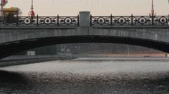 Ungraded: Bridge Over River Svislach in Minsk, Belarus Stock Footage