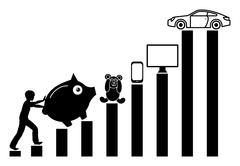 Child saving Money Stock Illustration