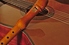 Spanish guitar and flute Kuvituskuvat