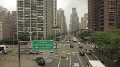 Low Aerial Over New York Traffic Stock Footage