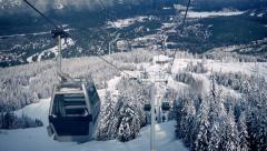 Moving Up Mountain At Ski Resort - stock footage