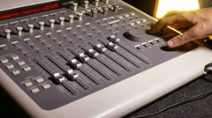 music studio remote - stock footage