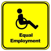Equal Employment Sign Stock Illustration