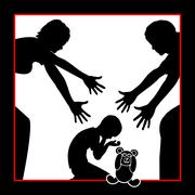 Parents comfort Child Stock Illustration