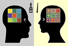 Creativity by Gender Stock Illustration
