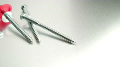 Spanner tool and screws Stock Footage