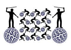 Child Labor Exploitation Stock Illustration