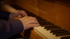 Hands playing the grand piano Stock Footage