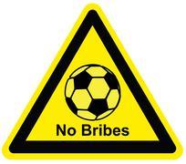 Football No Bribes Stock Illustration