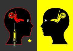 Mood Lifting Drugs Stock Illustration