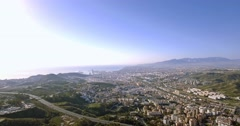4K Aerial, Cityscape Malaga, Andalusia, Spain Stock Footage