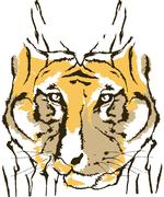 Tiger abstract animal design vector design Stock Illustration