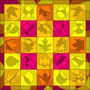 Leaf quilt - stock illustration