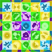 quilt spring - stock illustration