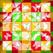 Summer quilt - stock illustration