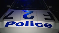Police Car with flashing lights Stock Footage