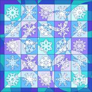 Winter quilt - stock illustration