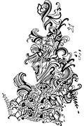 Stock Illustration of Abstract art clothing fashion vector design