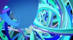 Bluish Chaotic strings Stock Footage