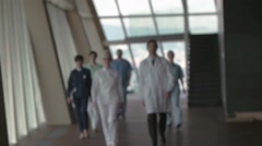 doctors team walking - stock footage