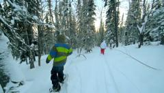 Snow Sport Team Stock Footage