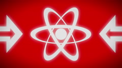 Atom icon. Looping. - stock footage