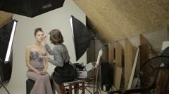 Makeup beauty process Stock Footage
