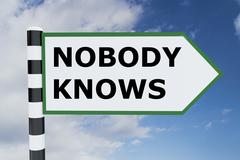 Nobody Knows concept Stock Illustration