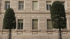Tilt view of the beautiful Government House in Trieste Stock Footage