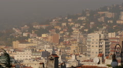 Gorgeous cityscape seen from Parco della Rimembranza in Trieste Stock Footage