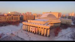 The Novosibirsk Opera and Ballet Theatre, Novat  Stock Footage