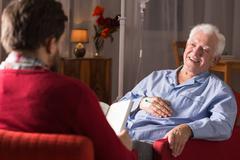 Man with senile dementia Stock Photos