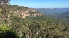 4k footage of Three Sisters peak at Blue Mountains, Australia Stock Footage