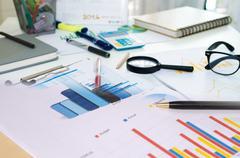 marketing plan Business - stock photo