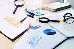 marketing graph Business - stock photo