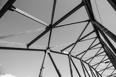 Old metal structures  truss Stock Photos
