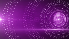 Abstract circle round background 4K PURPLE Stock Footage