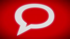 Chat icon. looping. Stock Footage