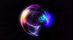 Sphere 3d flame ball 4k Stock Footage