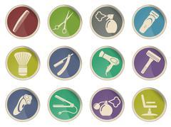 Barbershop symbols Stock Illustration