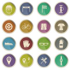 Bycicle simply icons Stock Illustration