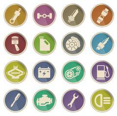 Auto Service web icons Stock Illustration