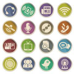 communication icons - stock illustration